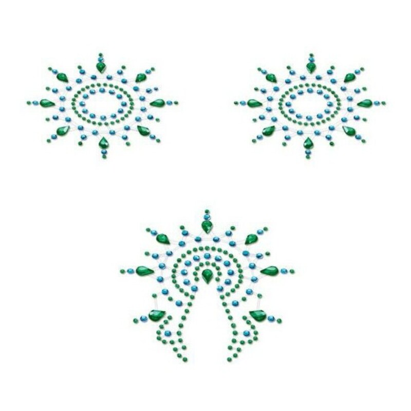 Flamboyant Blue & Green Mystim 46656 Turquoise (3 pcs)