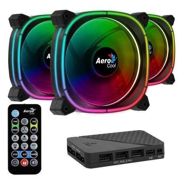 Ventilator Aerocool Astro 12 Pro Ø 12 cm 1000 rpm RGB LED