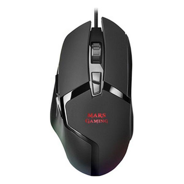 Ratón Gaming con LED Mars Gaming MMGX RGB 10000 dpi 60 ips Negro
