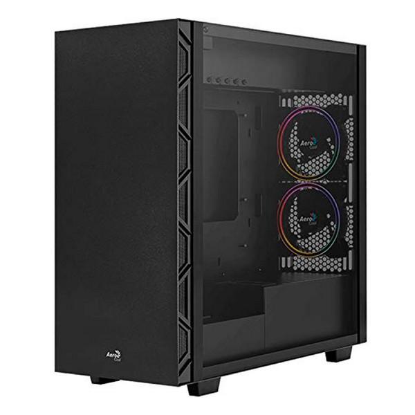Micro ATX / Mini ITX / ATX Midtower Case Aerocool Flo Saturn RGB USB 3.2 Black
