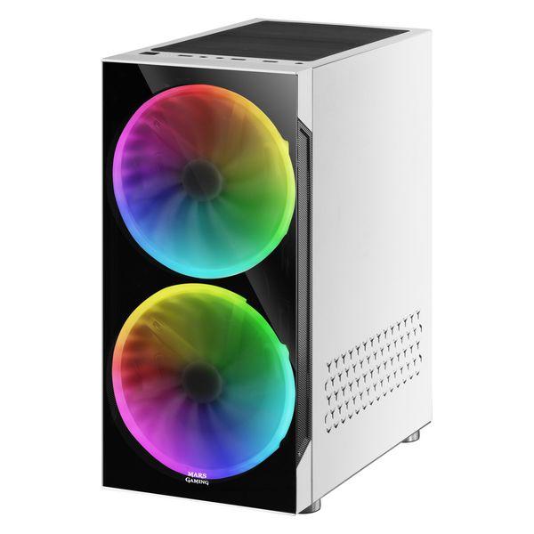 ATX Semi-tower Box Mars Gaming MC9W LED RGB White