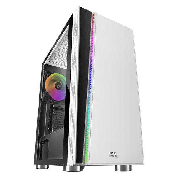 ATX Semi-tower Box Mars Gaming MC8W LED RGB White
