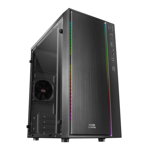 ATX Mini-tower Box Case Mars Gaming MCM RGB Black