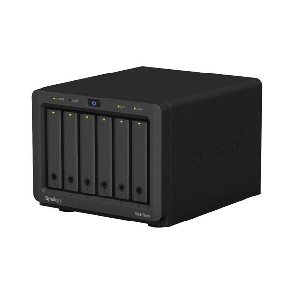 Almacenamiento en Red NAS Synology DS620slim Celeron J3355 2 GB RAM Negro