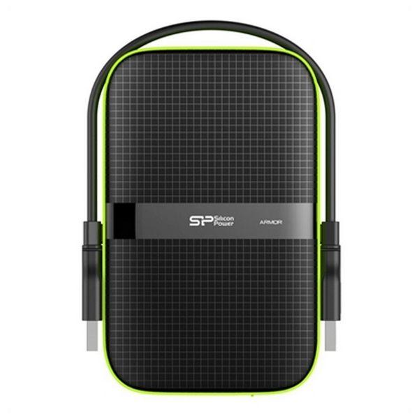 """Disco Duro Externo Silicon Power A60 2.5"""" USB 3.0 2 TB Anti-shock Waterproof Negro"""