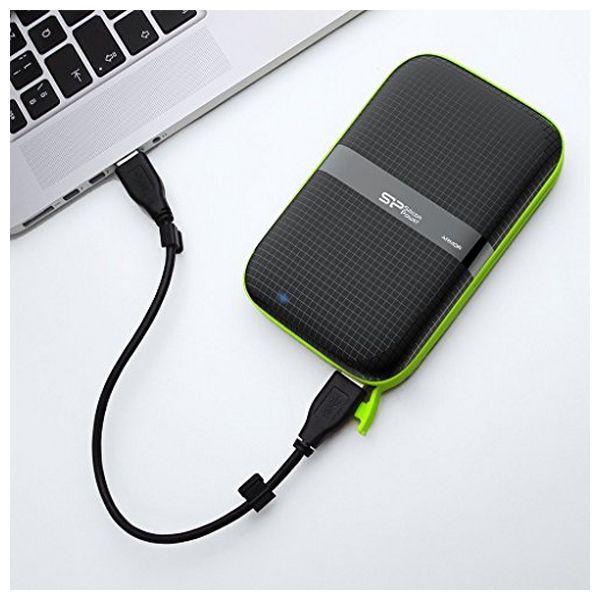 """Disco Duro Externo Silicon Power A60 2.5"""" USB 3.0 2 TB Anti-shock Waterproof Negro (3)"""