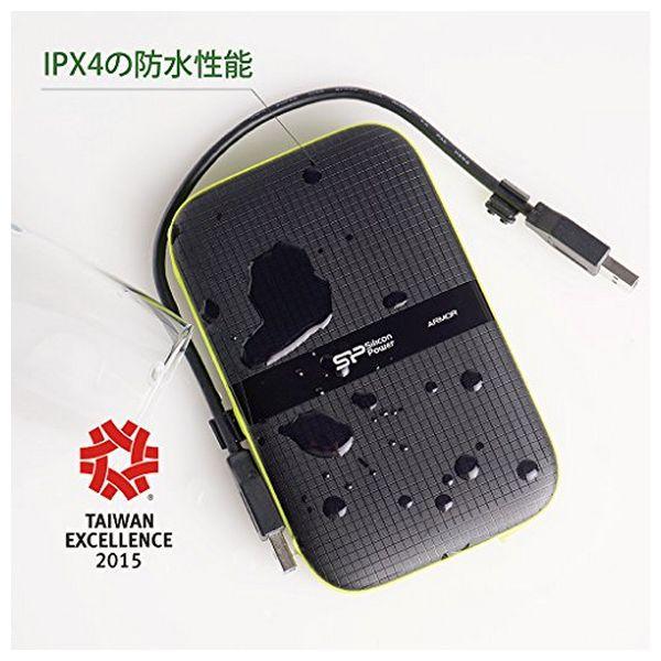 """Disco Duro Externo Silicon Power A60 2.5"""" USB 3.0 2 TB Anti-shock Waterproof Negro (2)"""