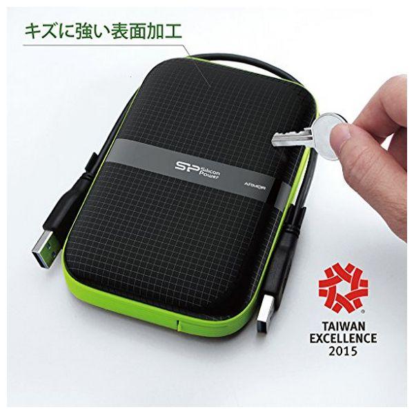 """Disco Duro Externo Silicon Power A60 2.5"""" USB 3.0 2 TB Anti-shock Waterproof Negro (1)"""