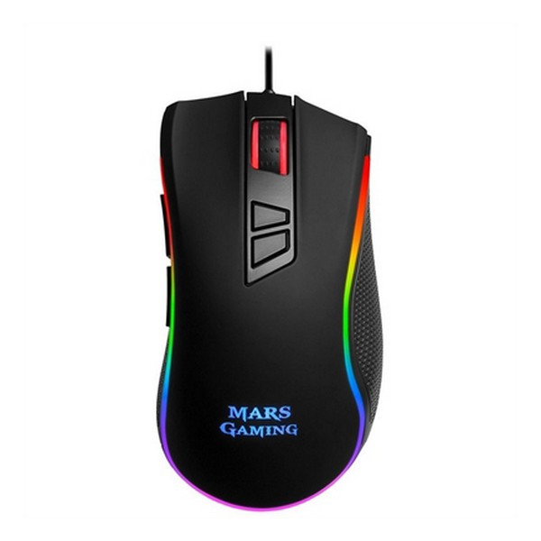 Mouse Gaming con LED Mars Gaming MM218 10000 dpi Nero