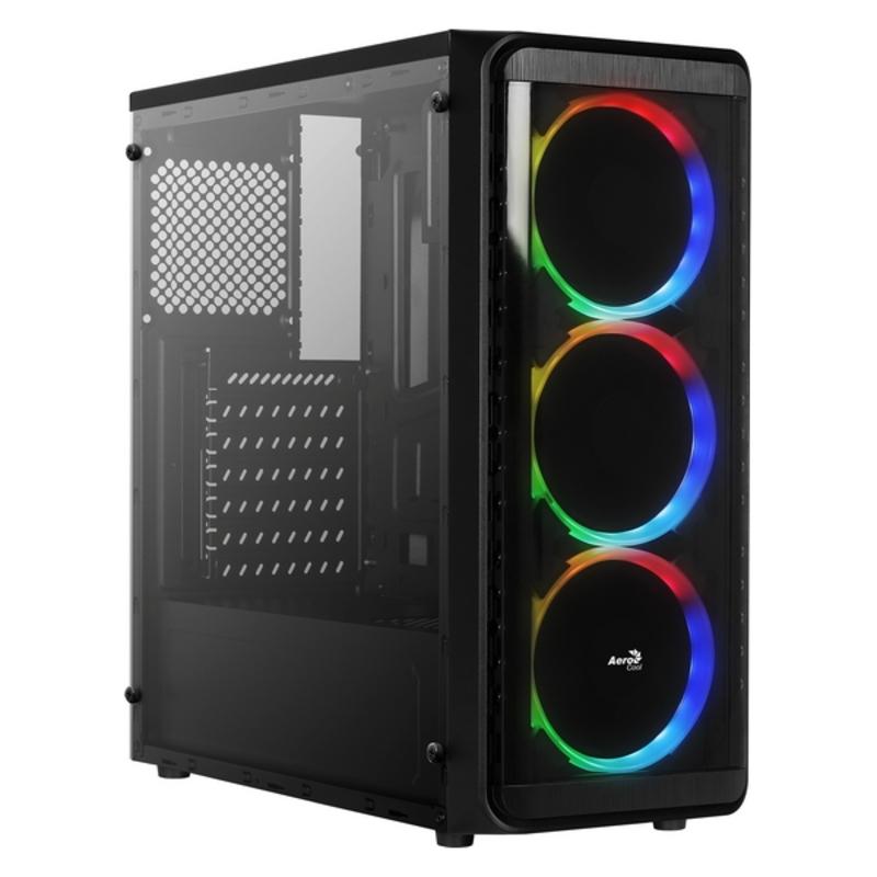 Caja Semitorre ATX Aerocool SI5200RGB RGB USB 3.0 Negro