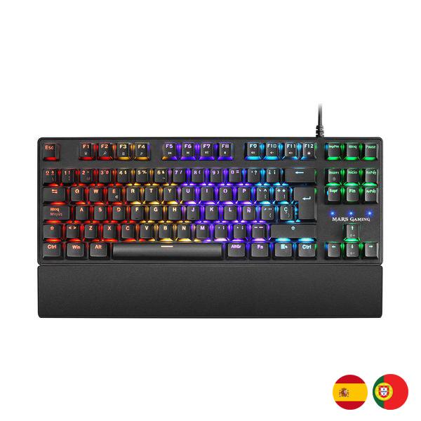 Teclado Gaming Mars Gaming MKXTKLR Negro