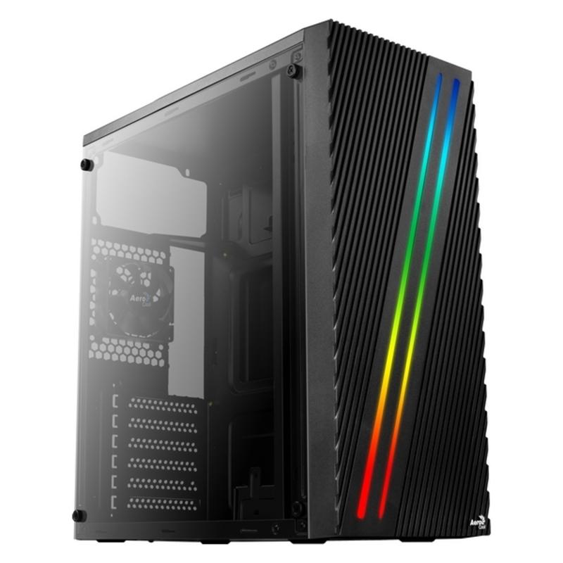 Caja Semitorre ATX Aerocool STREAK RGB USB 3.0 Negro