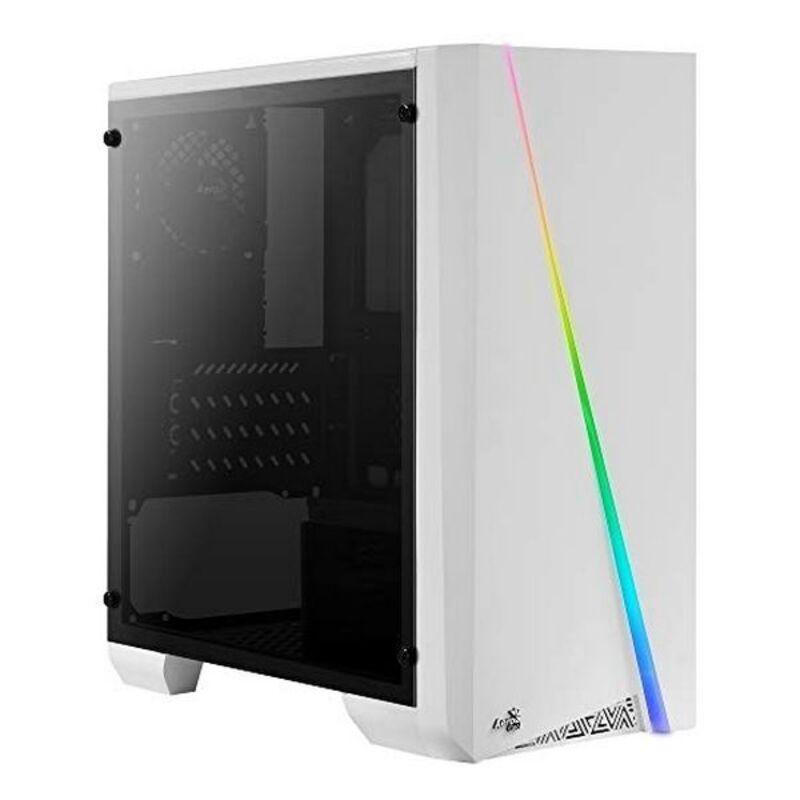 Caja Minitorre Micro ATX / ITX Aerocool CYLONMINIW RGB LED Blanco