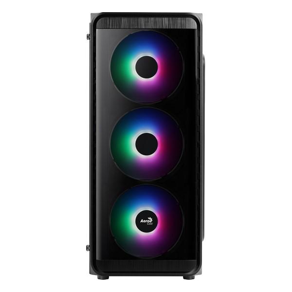 Caja Semitorre Micro ATX / Mini ITX / ATX Aerocool SI5200 Frost Ø 12 cm RGB