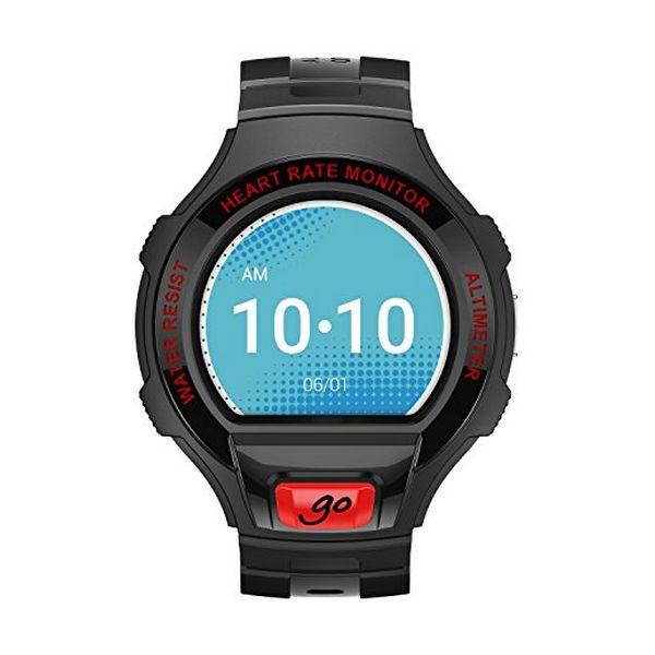 "Smartwatch Alcatel GO Onetouch 1.22"" Negro Rojo Oscuro"