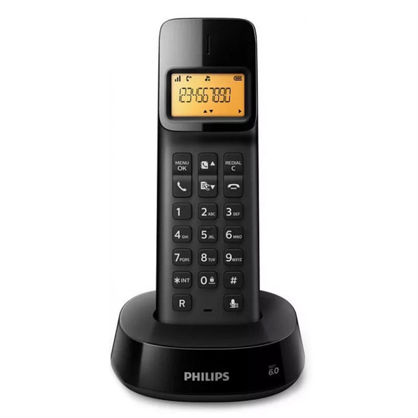 "Teléfono Inalámbrico Philips D1601B/01 1,6"" 300 mAh GAP Negro"