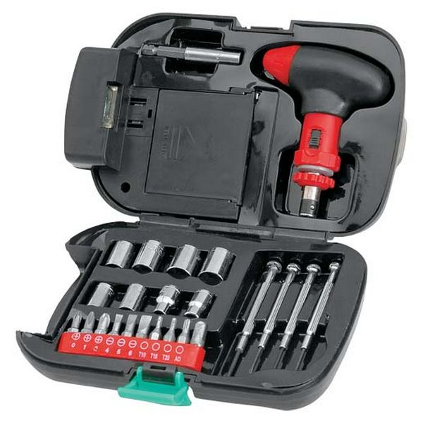 Set of Tools with Integrated LED Torch (24 pcs) 148534