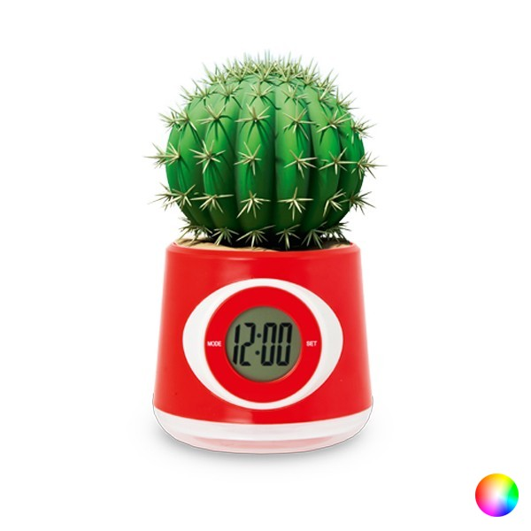 Tabletop Flowerpot Clock Bicoloured 144450