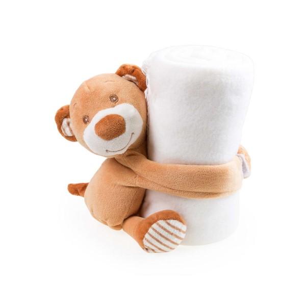 Manta Polar Infantil con Peluche Oso (100 X 75 cm) 144721