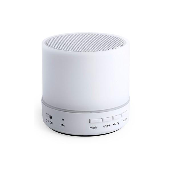 Bluetooth loudspeaker with LED light USB 3W White 146086