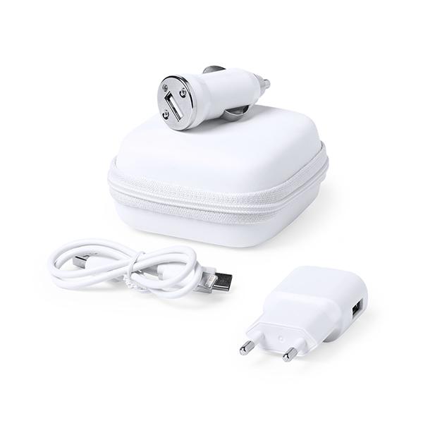 Set de Cargadores USB 1000 mAh Blanco 146091