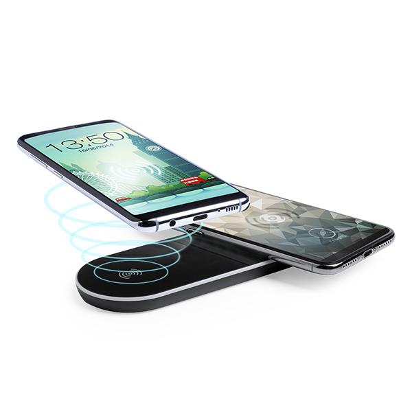Cargador Inalámbrico para Smartphones Qi Negro 146142
