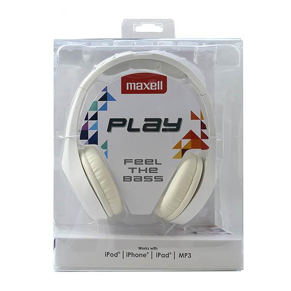 Auriculares Maxell Play MXH-HP500 Blanco Diadema