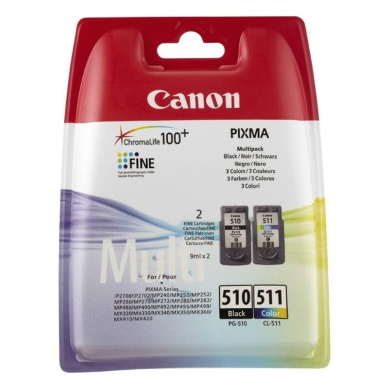 Original Ink Cartridge (pack of 2) Canon PG-510/CL511 Tricolour Black
