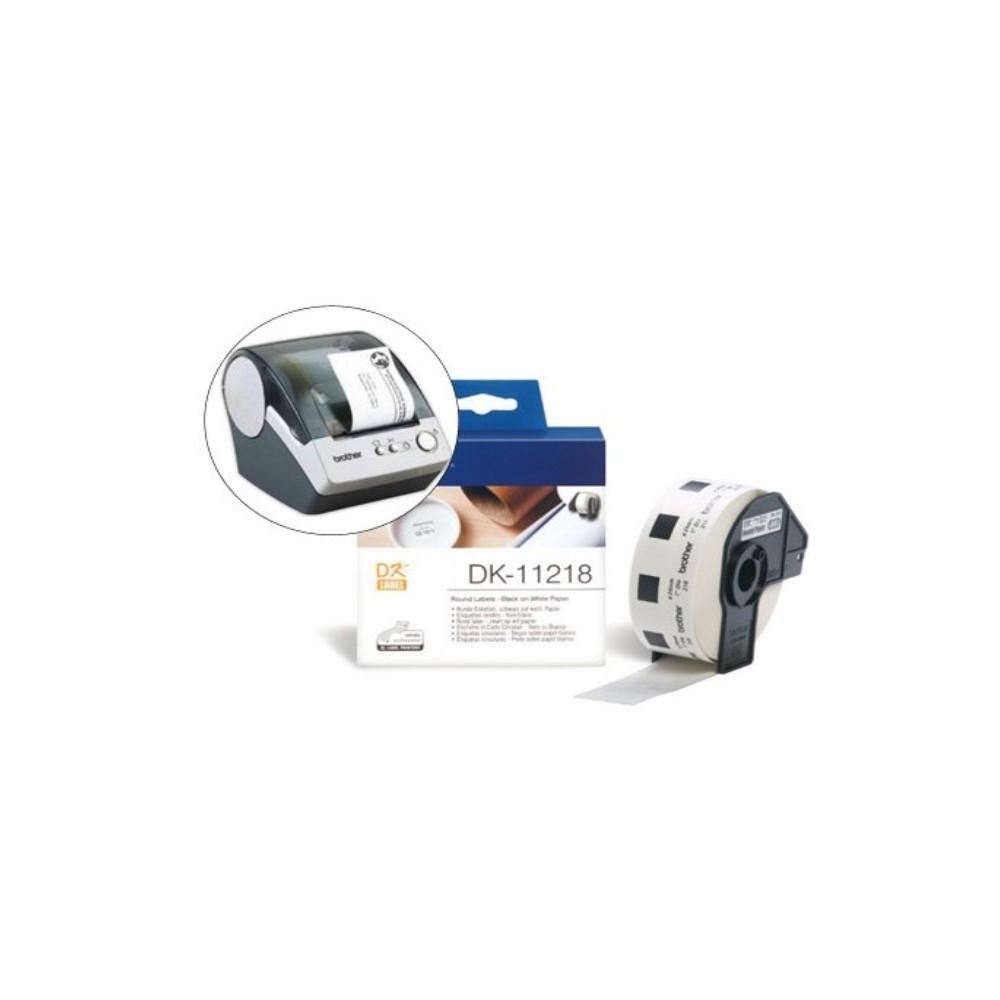 Printer Labels Brother DK-11218 24 mm (1000 uds)