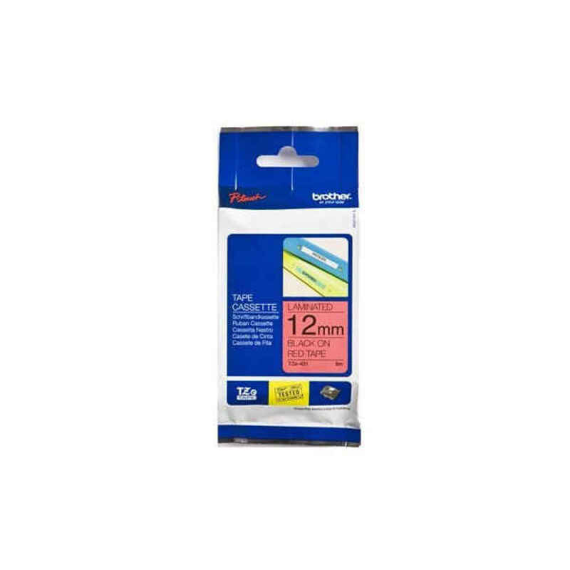 Laminated Tape for Labelling Machines Brother TZE431 12 mm Red/Black
