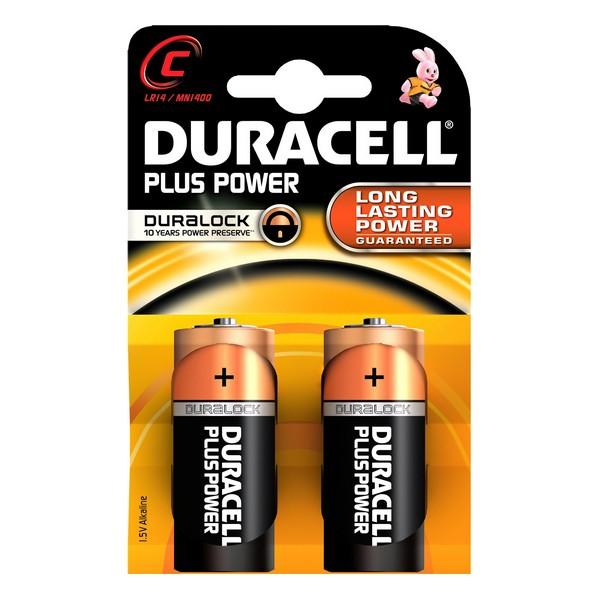 Alkaline Batteries Plus Power DURACELL LR14/MN1400 (2 pcs)