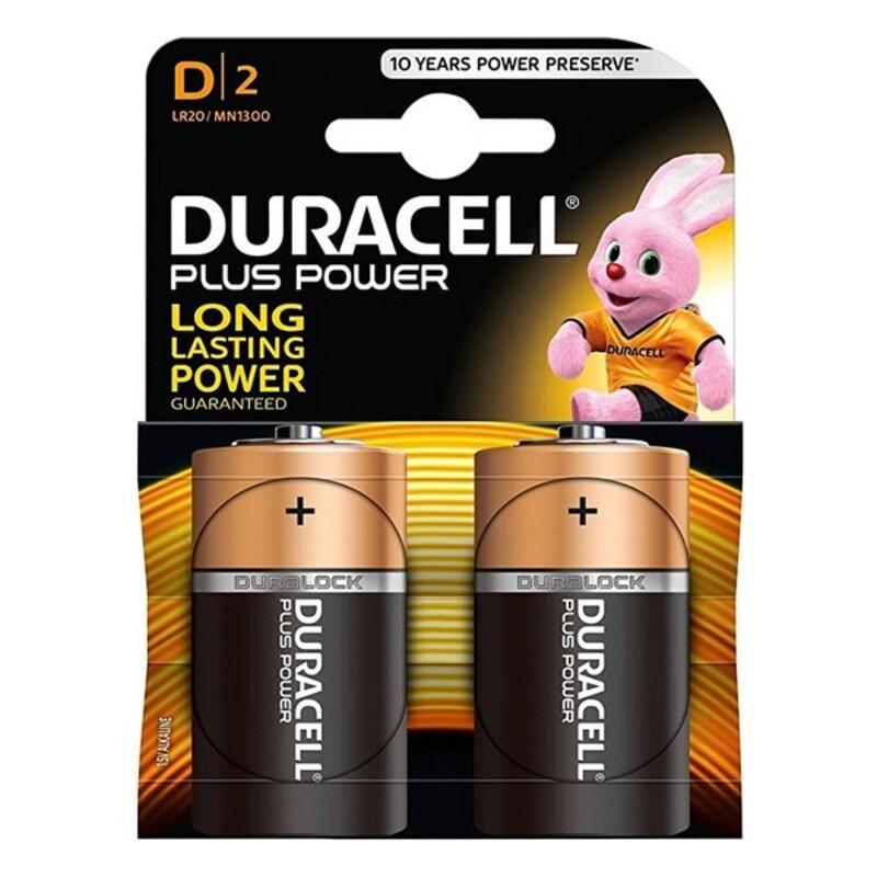 Alkaline Batteries Plus Power DURACELL LR20/MN1300 (2 pcs)