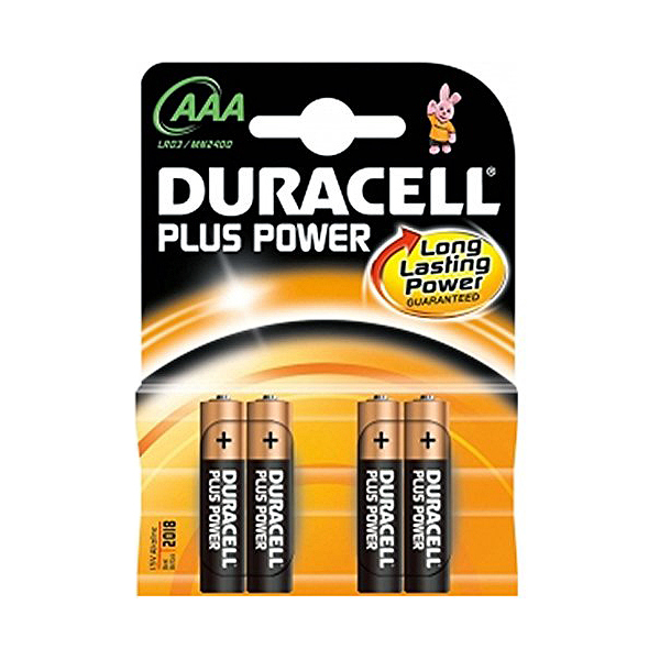 Batterie Alcaline LR03 DURACELL AAA (4 pcs)