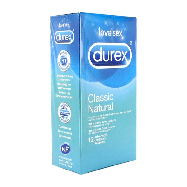 Classic Natural Condoms 12 pcs Durex 8424
