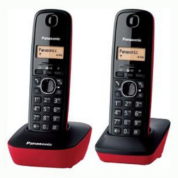 Teléfono Inalámbrico Panasonic Corp. KX-TG1612SPR DECT Negro (2 Pcs)