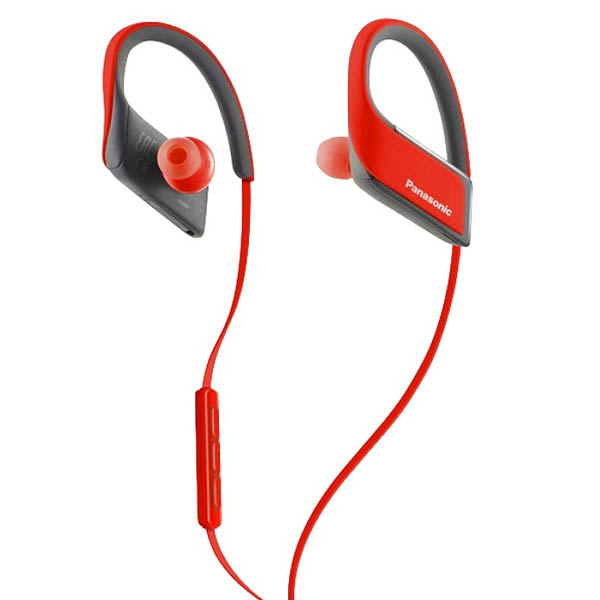 Bluetooth Sports Headset with Microphone Panasonic RP-BTS30E Red