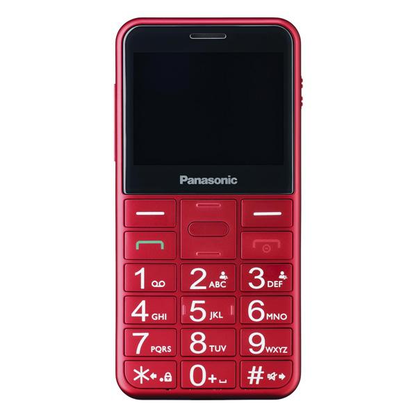 Teléfono Móvil para Mayores Panasonic Corp. KX-TU150 TFT LCD Dual SIM Rojo