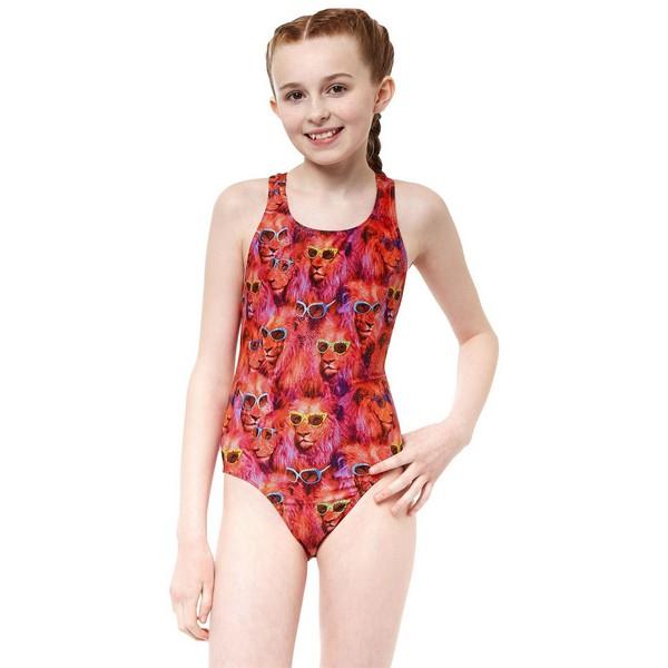 Child's Bathing Costume Ypsilanti Cool Catz Rave Back Multicolour