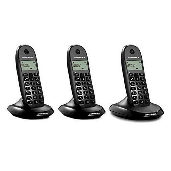 Teléfono Inalámbrico Motorola E07000D48B3AES03 (3 Pcs) Negro