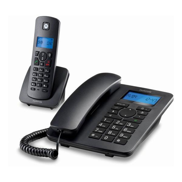 Teléfono Fijo Motorola C4201 Combo DECT (2 pcs) Negro