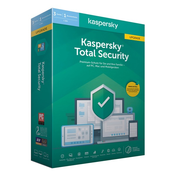 Antivirus Hogar Kaspersky Total Security MD 2020 (3 Dispositivos)