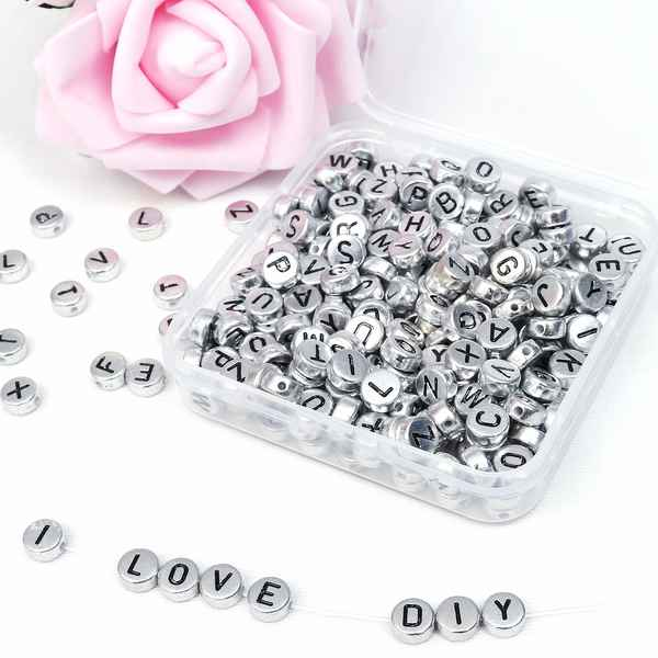 Glass beads Kurtzy A-Z 6 x 6 mm (1000 pcs) (Refurbished A+)
