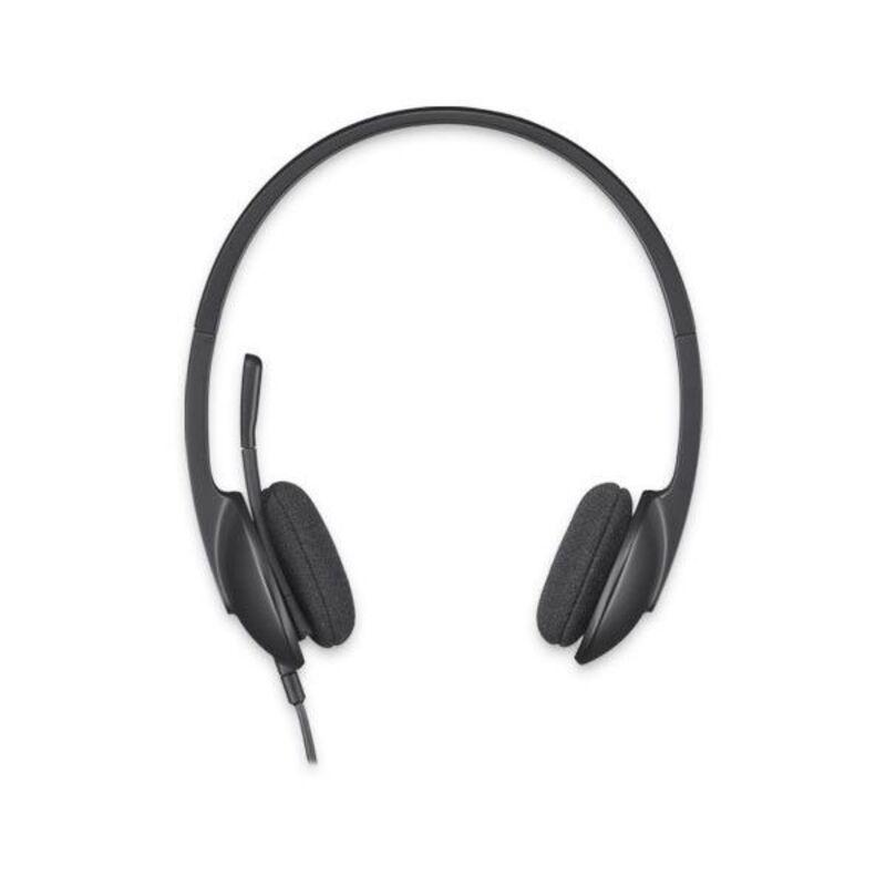 Headphones with Microphone Logitech H340 USB 1,8 m Black