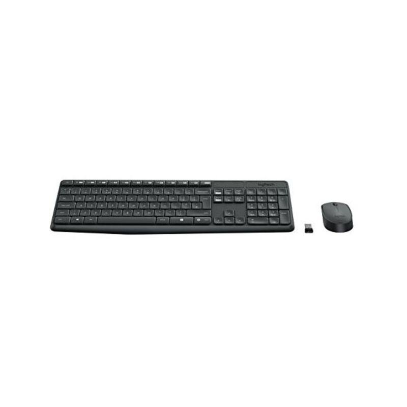 Keyboard and Wireless Mouse Logitech MK235 RF
