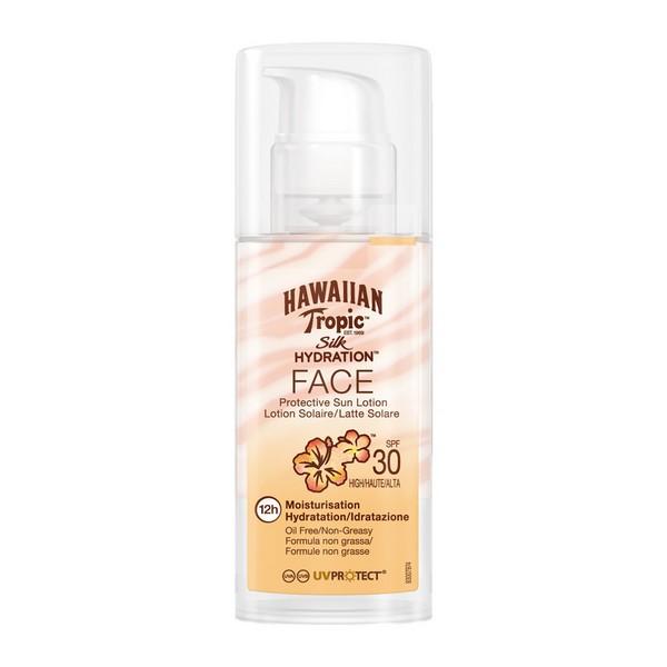 Losjon za sončenje Silk Face Hawaiian Tropic Spf 30 (50 ml)