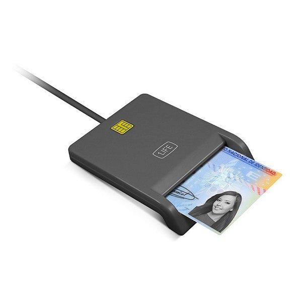 Lector para DNI Electrónico 1LIFE 1IFECRCITIZEN USB 2.0 Negro