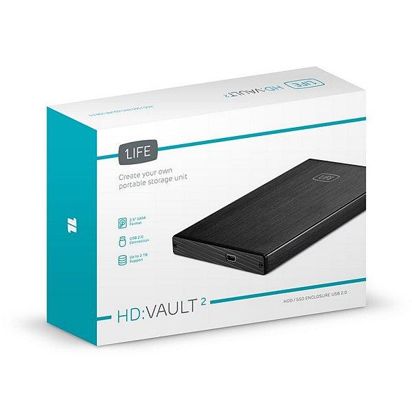 "External Box 1LIFE 1IFEHDVAULT 2,5"" Black Computers Electronics"