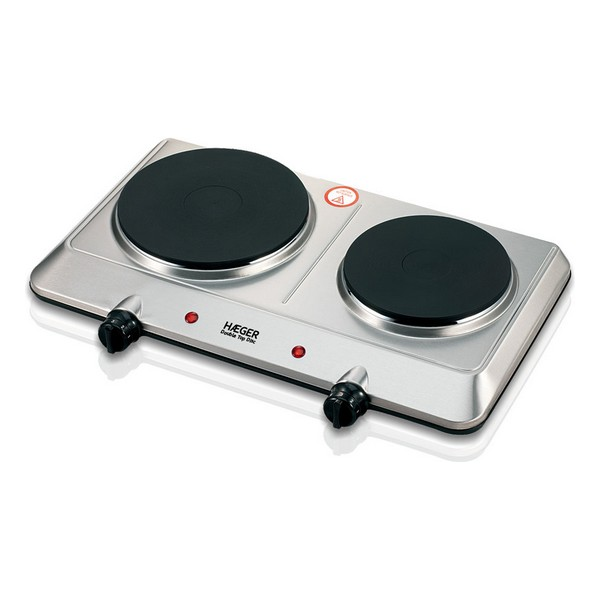 Electric Hot Plate Haeger Double Top Disc 2 Stoves 2250W
