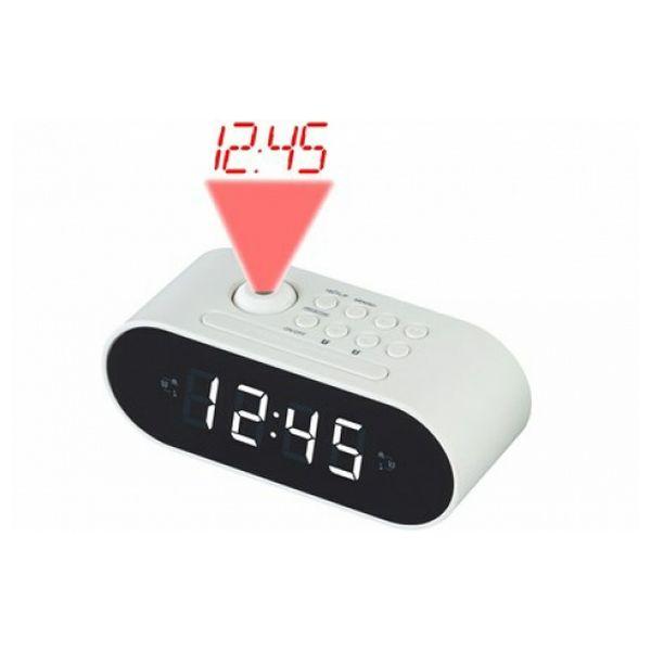 Radio Despertador con Proyector LCD Denver Electronics CRP-717 LED Blanco Negro