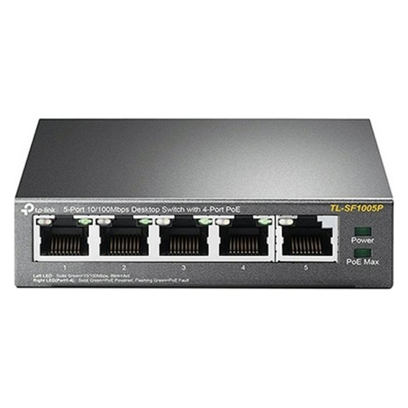 Switch de Sobremesa TP-Link TL-SF1005P PoE LAN 10/100 Metal
